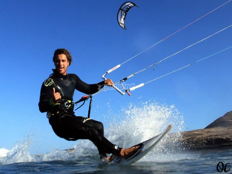 Kitesurfing in Canaria