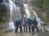 Foto frente a las cascadas