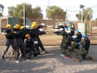 Le due squadre di paintball