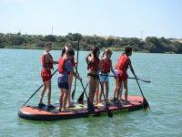 桨冲浪巨型水库桨冲浪课程两桨加的斯