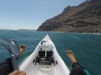 A bordo del kayak en Fuerteventura