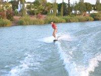 Surfing in wake