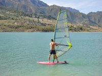windsurfing in sunny day