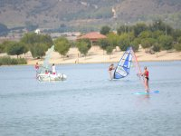 Windsurf course in Arcos reservoir