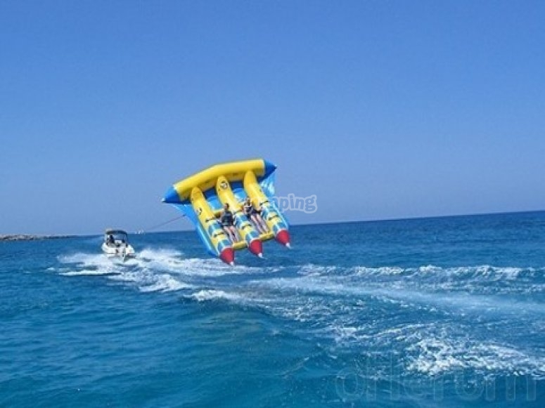 Catch the waves on a flying raft