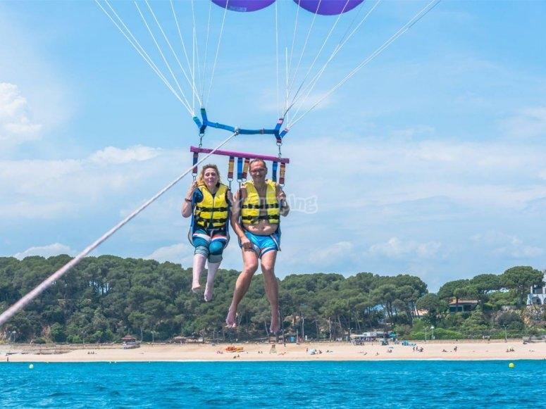 滑翔伞飞升