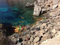 Kayak en costas ibicencas