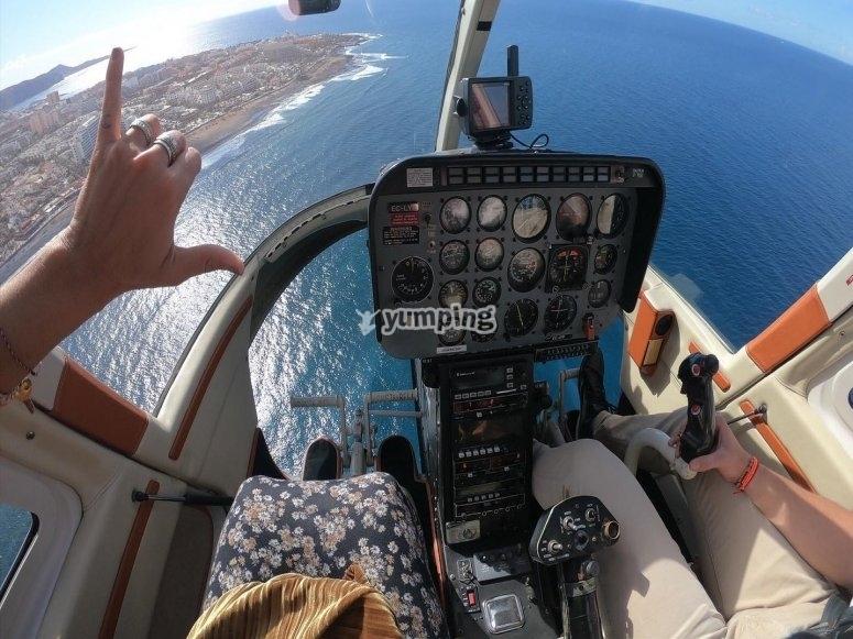 Emocionante vuelo en helicóptero