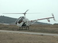 First meters over the heliport
