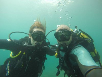 Scuba Diving Baptism for Couples in Aguadulce