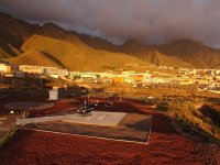 The views of a village in Tenerife from the sky