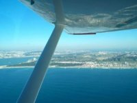 Bird's-eye views of Cascais from the aircraft