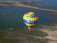Sobrevolando las Lagunas de Ruidera en globo