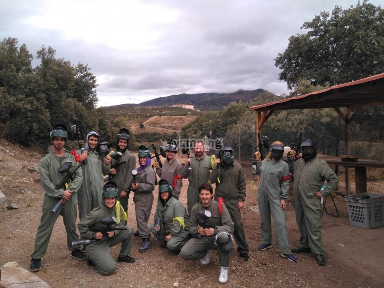 Squadra di paintball a San Rafael