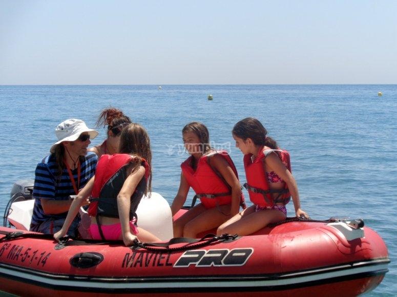 Con nuestra ebarcación