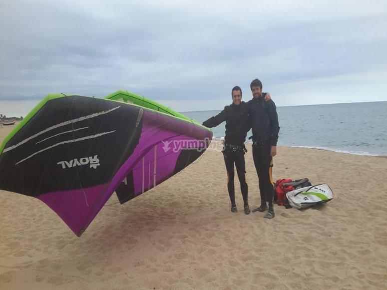 Junto al kite