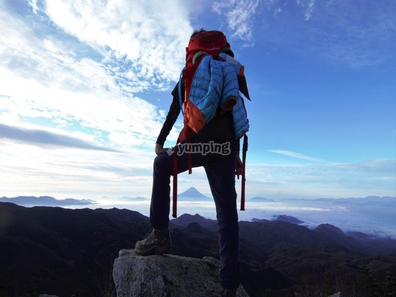 High mountains climbing