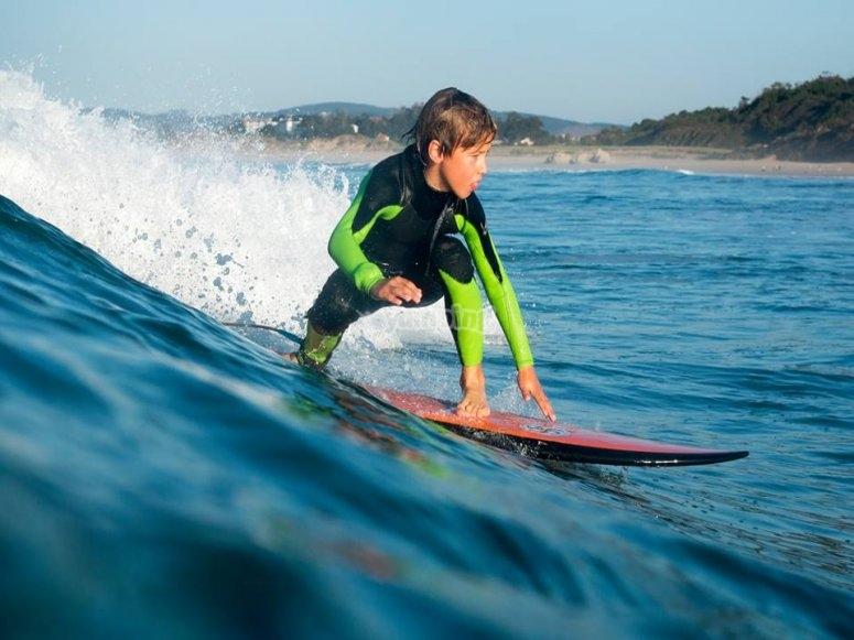 Peque surfista