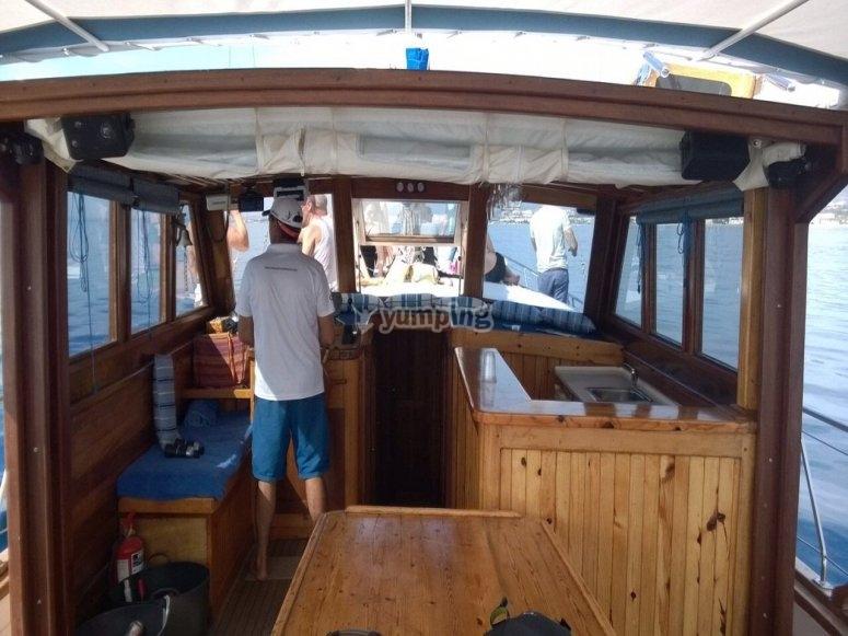 Salida en barco por Marbella