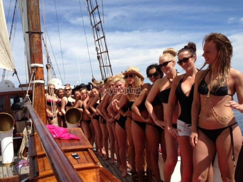 despedida soltera en velero
