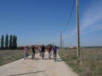 山地自行车的路线,通过在巴塞罗那农村