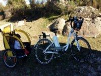 bicicleta con sillita