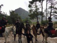 Excursion on horseback through the Sierra de Tramontana