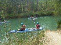 Piraguismo en un tramo del rio Jucar