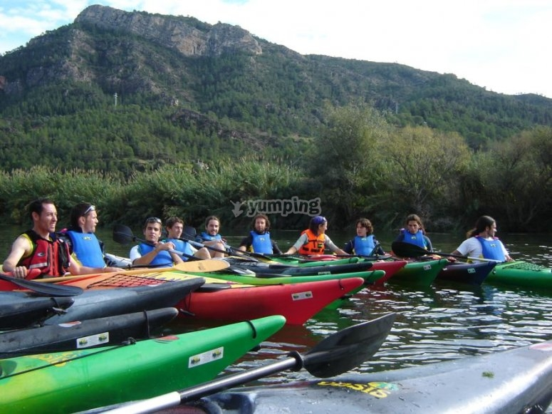 All the canoes