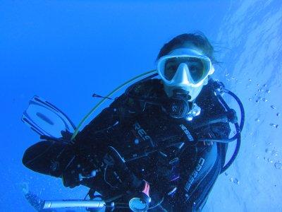 在大加那利岛潜水洗礼4小时