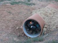 Escondido en el tubo
