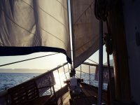 navegando a la costa