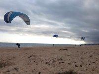 vuelos en la playa