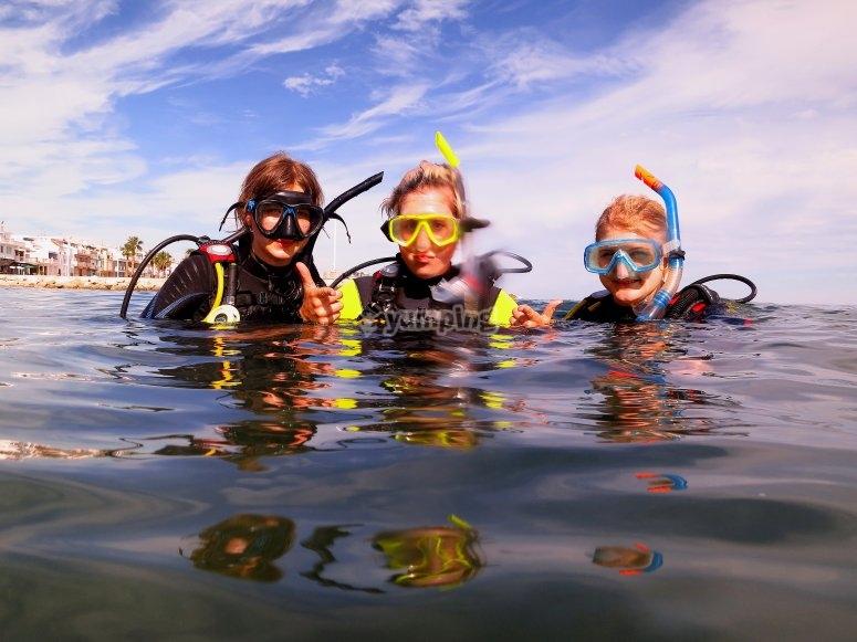 Inmersión de buceo Málaga con certificado