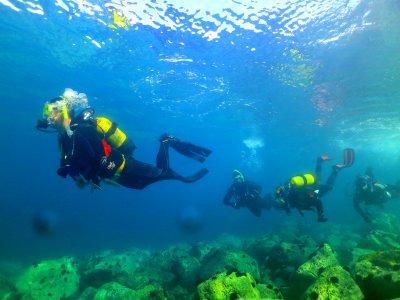为认证潜水员潜水,马拉加