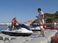 Indicaciones previas a la ruta en moto de agua