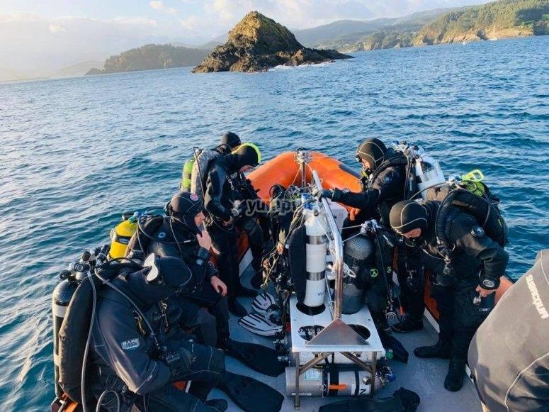 Immersioni al largo della costa di Lugo
