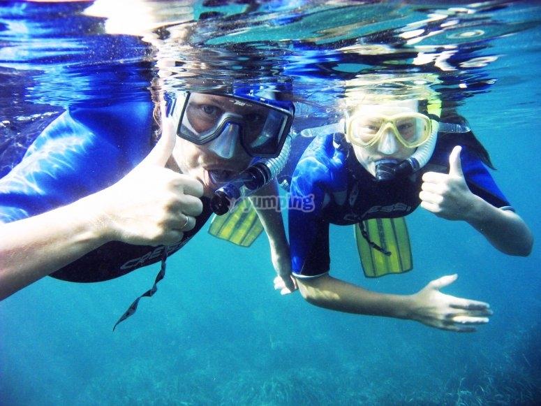 Excursión de snorkel