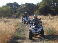 Ruta en quad por el bosque