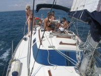 与朋友一起航行