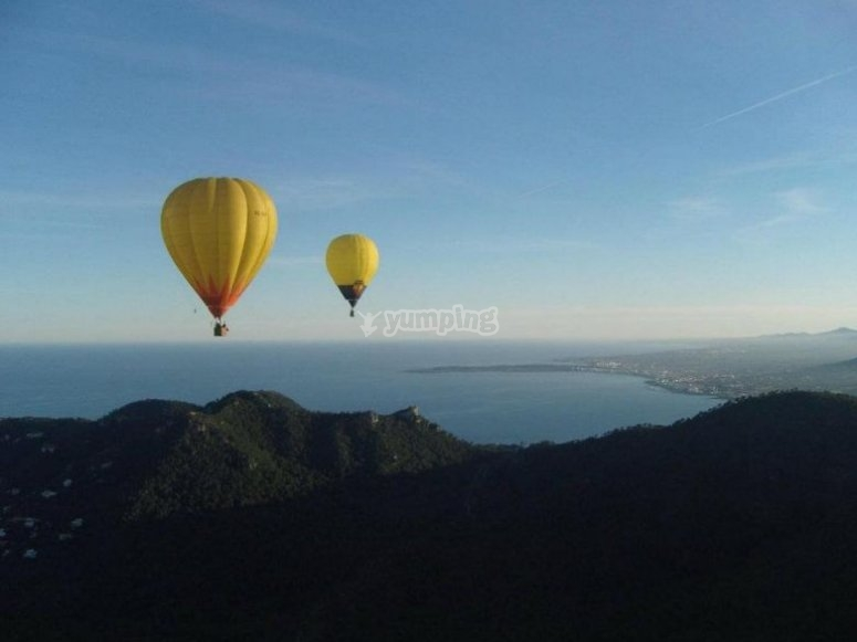 Balloon ride in Mallorca