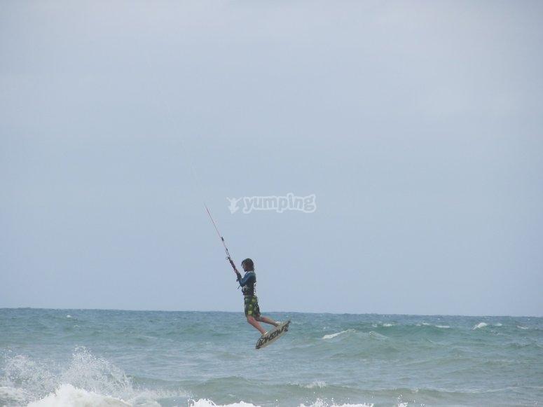 Kitesurfing in Denia