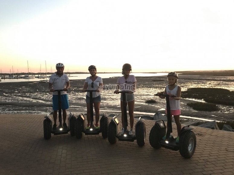 Segways junto al mar
