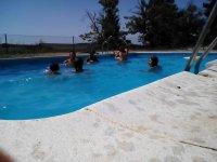 En la piscina del centro