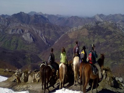 Horse riding touring Redes Natural Park 2 days