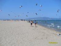 风筝冲浪风筝在空中