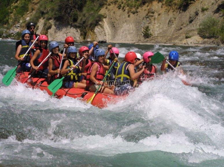Rafting en rio Esera