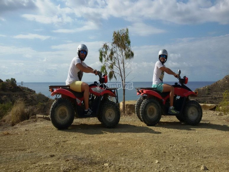 With the friends on quads