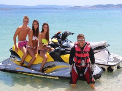 Ruta en moto de agua en Isla de Areoso por 80 min