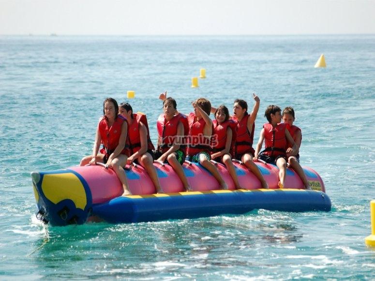 香蕉船准备